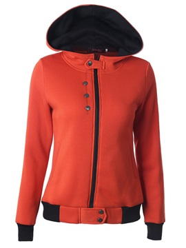 Stylish Multi Color Buttoned Hoodie