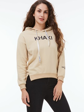 Stylish Letter Print Long Sleeve Hoodie