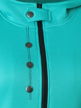 Stylish Hidden Button Slim Hoodie