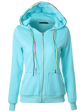 Stylish Colorful Stripe Short Hoodie