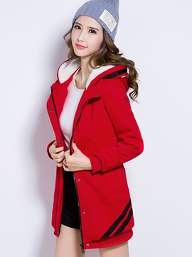 Stylish Color Block Thick Hoodie