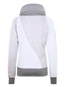 Stylish Turtleneck Color Block Women's Hoodie