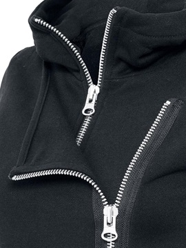 Stylish Pullover Double Zipper Hoodie