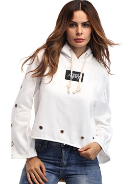 Stylish Loose Annulus Decorate Hoodie