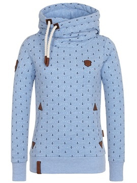 Multi Colors Polk Dots Hooded Women's Hoodie