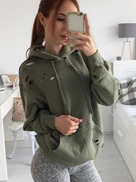 Hooded Long Sleeve Pullover Single Women's Hoodie