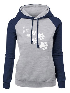 Long Sleeve Patchwork Regular Women's Hoodie