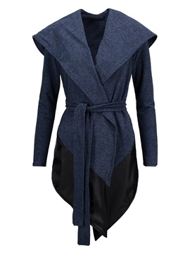 Tidebuy Hooded Asymmetric Belt Women's Hoodie