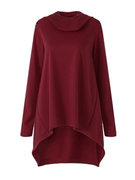 Mid-Length Plain Loose Women's Hoodie