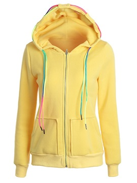 Fall Zipper Up Long Sleeve Women's Hoodie