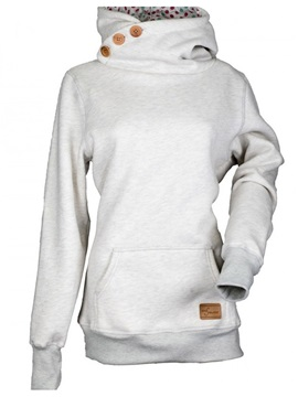 Fall Hooded Buttons Pullover Women's Hoodie