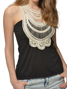 Special Lace Collar Slim Tank Top