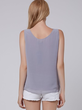 Gorgeous Sleeveless Gray Women Tank Top