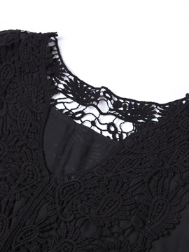 Chic Lace Decoration Collar Tank Top