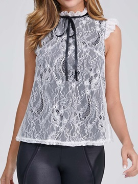 Lace Patchwork Summer Sleeveless Women's Tank Top