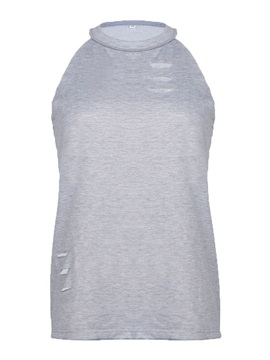 Hollow Plain Halter Hole Women's Tank Top