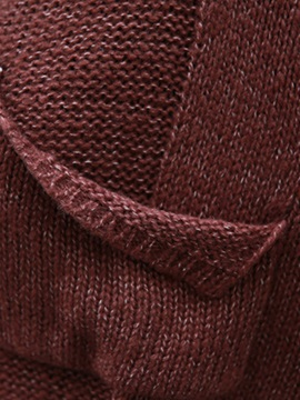 Casual Solid Color V Neck Loose Knitwear