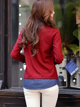 Stylish Patchwork Double-Layer Knitwear