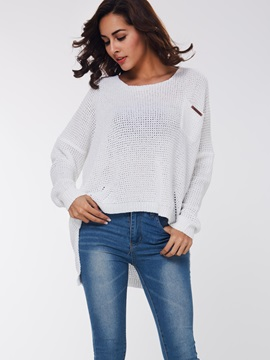 Round Hem Loose Sweater