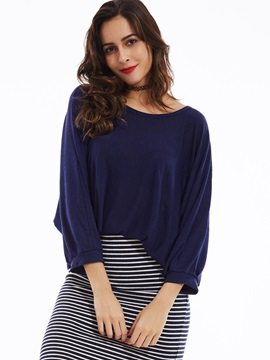 Stylish Loose Batwing Sleeves Knitwear