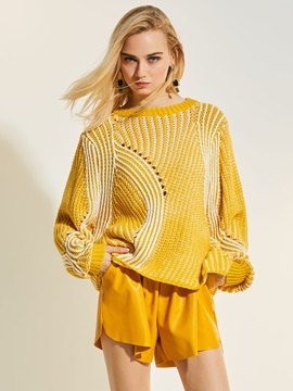 Loose Stripe Hollow Women's Knitwear