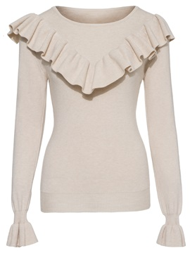 Long Sleeve Round Neck Slim Knitwear