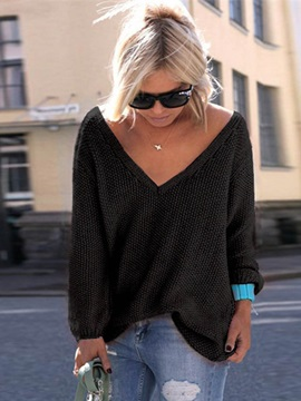 V-neck Loose Women's Sweater