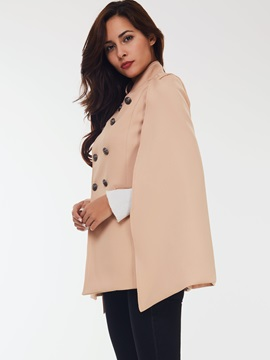 Stylish Double-Breasted Loose Cape