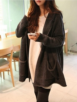 Loose Pockets Hooded Women's Cardigan