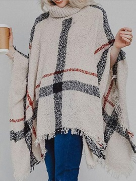 Casual Color Block Polyester Fall Women's Cape