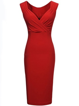 Gorgeous Pleated Shoulder Bodycon Dress