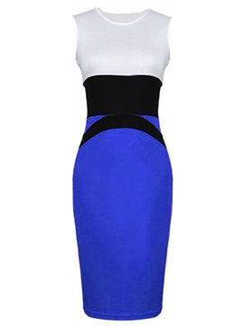 European Style Pieced Workwear Bodycon Dress