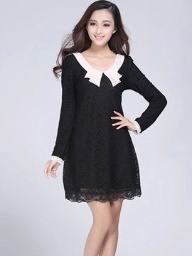 Peter Pan Collar Sleeve Dress