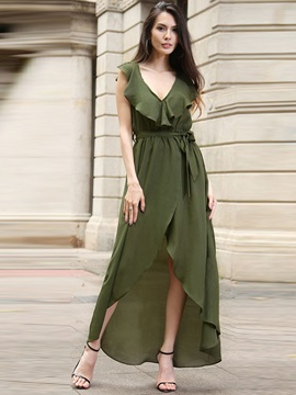 Chic Multi-colored Sleeveless Maxi Dress