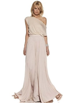 Chic Off Shoulder Chiffon Maxi Dress