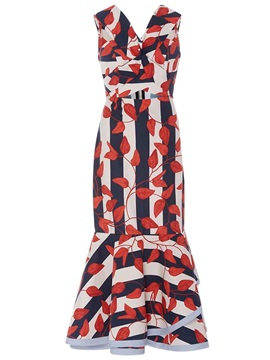 Sleeveless Floral Imprint Maxi Dress