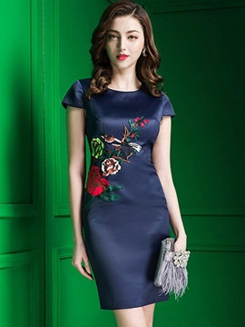 Amazing Short Sleeve Slim Bodycon Dress