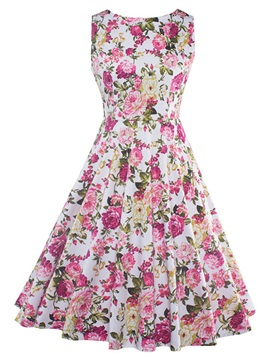 Tidebuy Floral Sleeveless Women's Dress