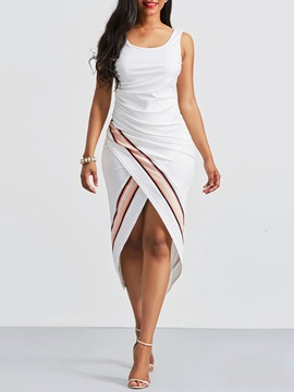 Tidebuy Color Block Patchwork Sleevelss Women's Bodycon Dress