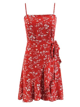 Tidebuy Pullover Floral Print Women's A-Line Dress