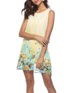 Tidebuy Floral A-Line Women's Dress