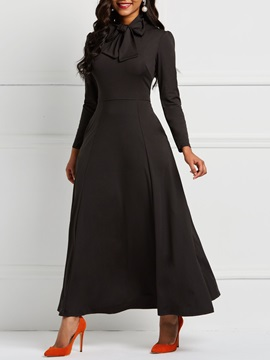 Round Neck Casual Polyester Women's A-Line Dress