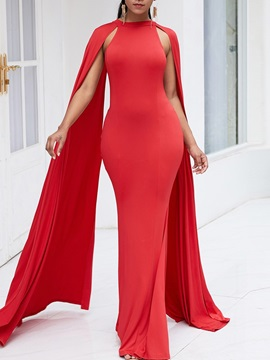 Floor-Length Long Sleeve Pullover Bodycon Women's Dresses