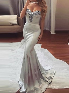 Floor-Length Sleeveless Sequins Pullover Women's Maxi Dress