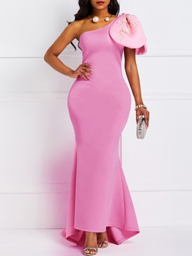 Sleeveless One-Shoulder High Waist Elegant Women's Maxi Dress