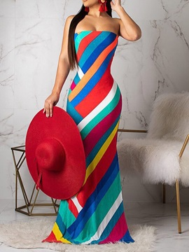Floor-Length Backless Sleeveless Bodycon Women's Maxi Dress