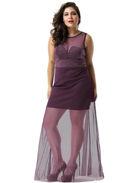 Sleeveless Floor-Length Mesh A-Line Pullover Women's Dress