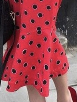 3/4 Sleeve Off Shoulder Print Polka Dots Women's Bodycon Dress