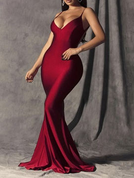 Sleeveless Floor-Length Backless High Waist Sexy Women's Dress