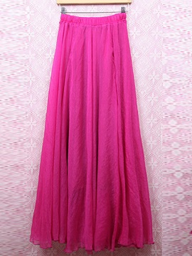 Solid Color Pleated Dress